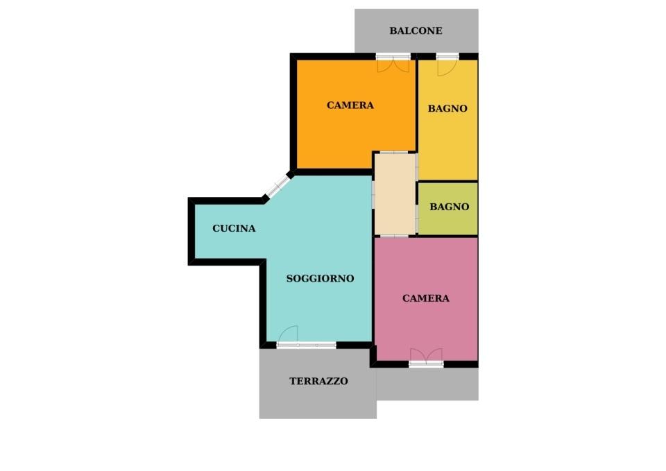 F14/18 -Fossano – Appartamento MQ.90 – 4 locali